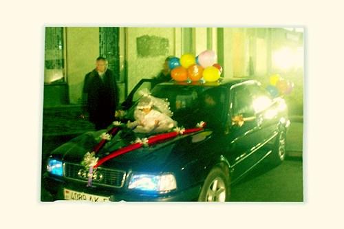 машина, зелено, свадьба, солигорск, ехать