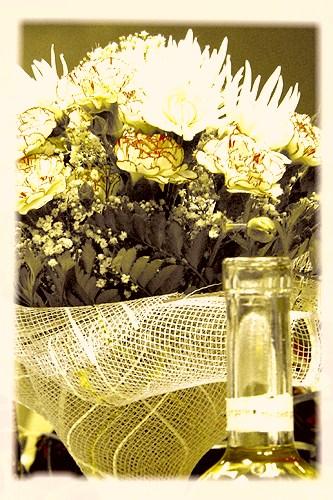 цветы и горлышко