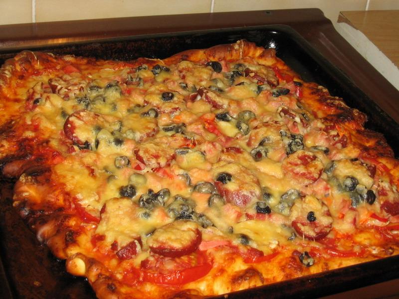 Пицца рецепт с мясом в домашних условиях