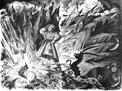 28. Д.Дмитриев, иллюстрации к сказке Конек-Горбунок П.П.Ершова.