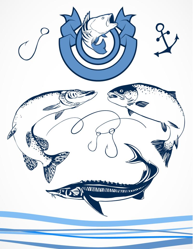 логотипы для команд рыбаков