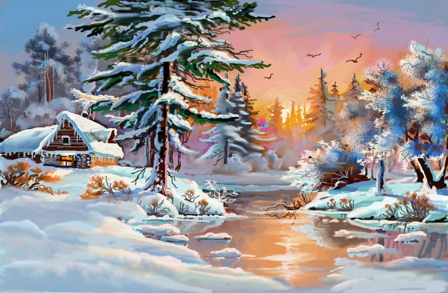 Картинки волшебница зима как нарисовать