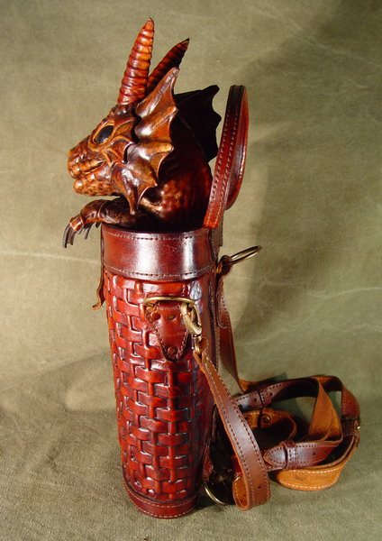Bob Basset s Lair – Dragon in baasket. New leather handbag. b8f3747473