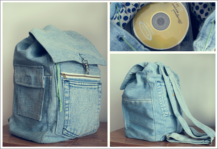 Джинсовые рюкзаки своими руками фото и выкройки из ткани 92