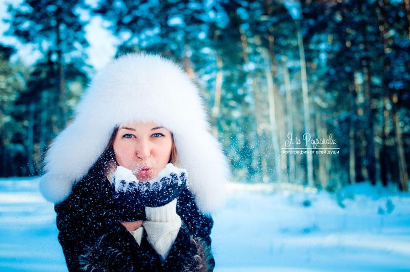 Девушки в лесу зимой фото 618-346