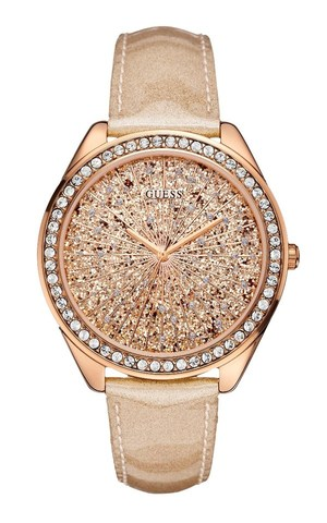 Amazoncom GUESS Rose GoldTone Stainles Steel  Pink
