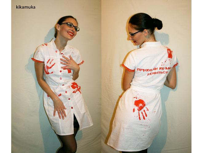 Костюм медсестры на хэллоуин своими руками