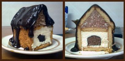 Торт домик из печенья и творога рецепт с пошагово