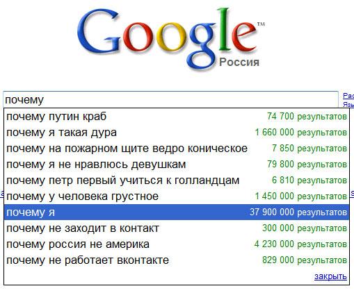 Запросы гугл - первый