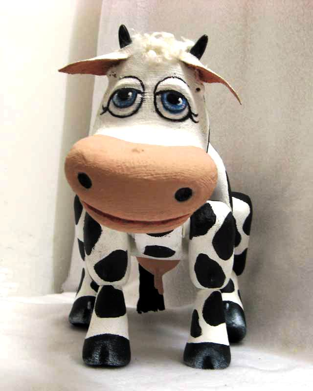 Божья коровка из папье-маше