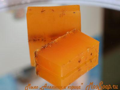 Мыло апельсином своими руками