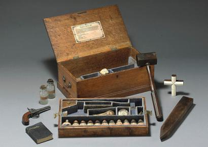 Recently this authentic vampire killing kit circa 1800s was sold at an.