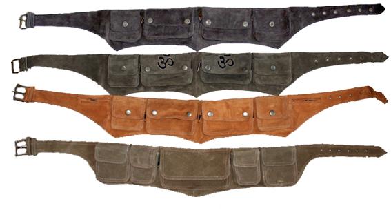 Пояса с карманами из кожи