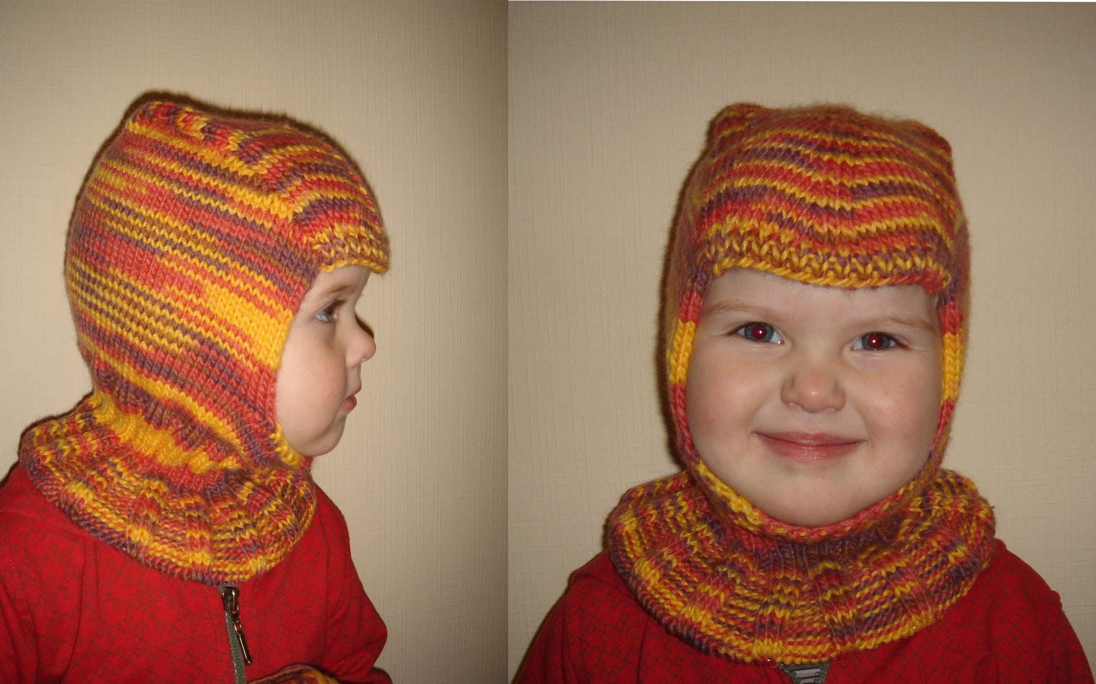 Шлем вязание для малышей