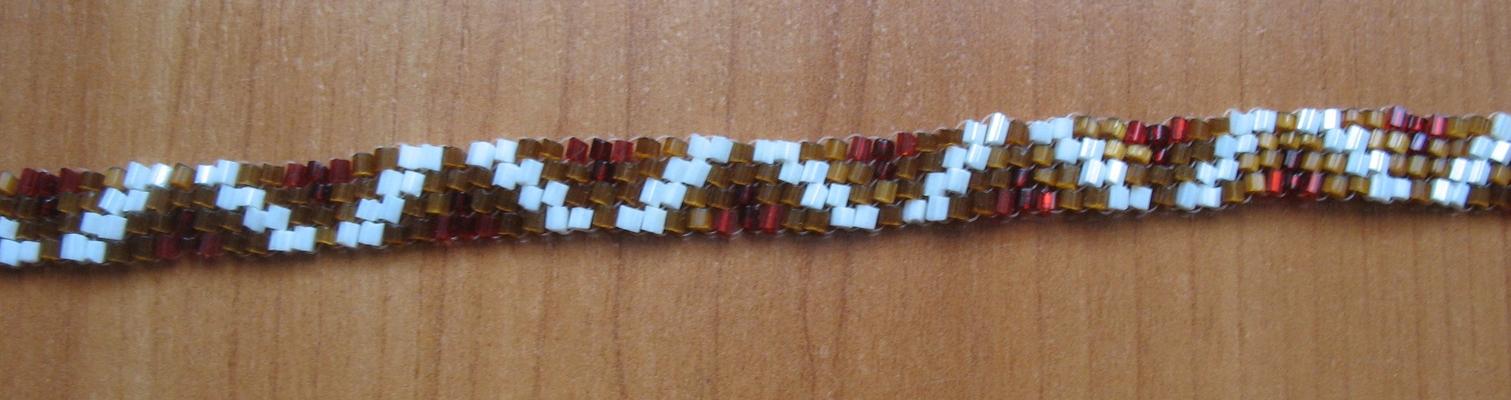 плетем фенечку с именем толя