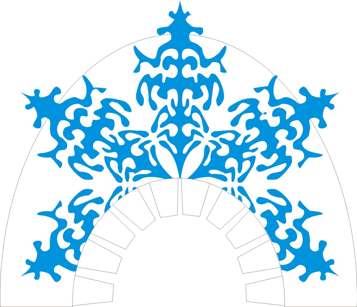Корона снежинки своими руками из бумаги