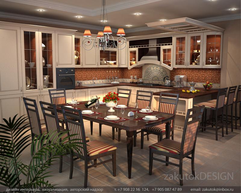 Tags дизайн интерьера кухня столовая