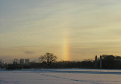 Зимняя радуга, обзорный вид