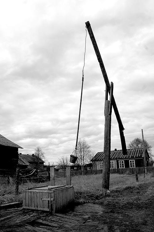 картинка в деревне у колодца высокий журавль мужского пола