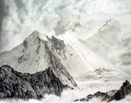 Алтай. г.Белуха. Утро. 2006; бумага, гр.карандаш, 32х41.5 см