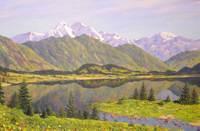 Алтай. Язовое озеро. Бид на Белуху. 2004, х., м., 80х120 см.