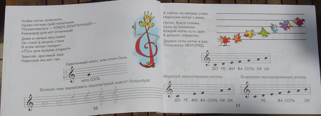 знакомство с фортепиано нотная грамота