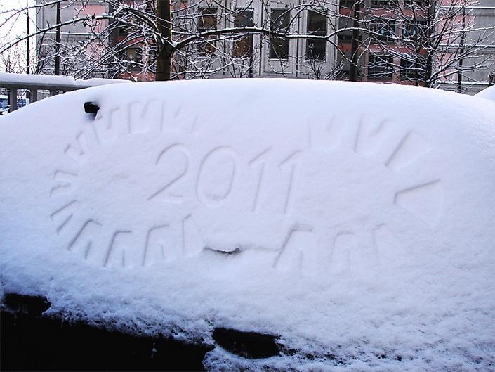 реклама на снегу