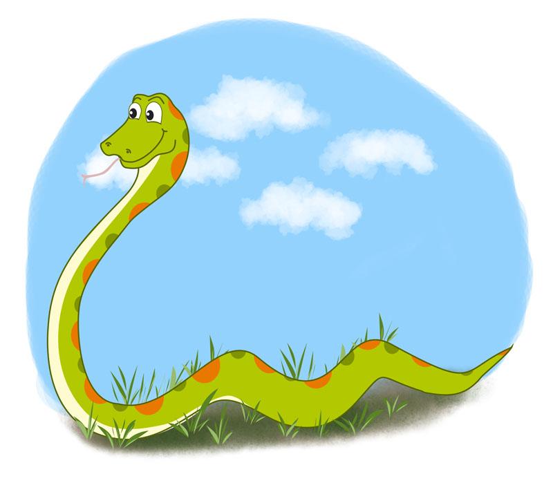 Картинка змея для детского сада