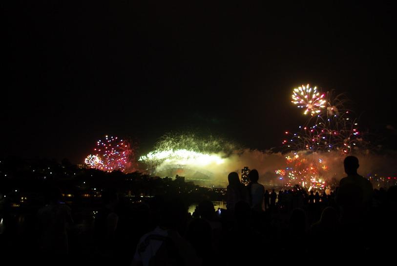 мост Харбор, встреча Нового года в Австралии