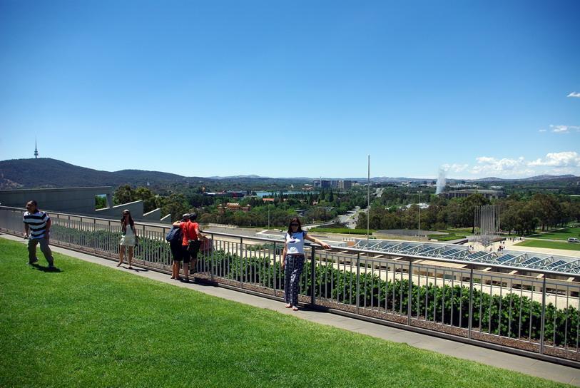 Канберра, крыша парламента Австралии