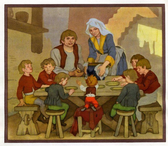 Картинки из сказки мальчик с пальчик шарль перро