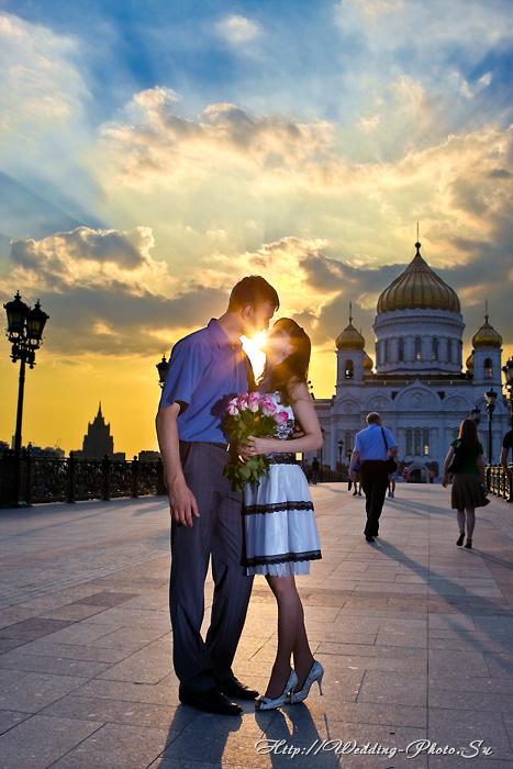 влюбленные, love story, любовь, поцелуй, закат, москва, храм, христа, девушка, красивая, girl, kiss, история любви