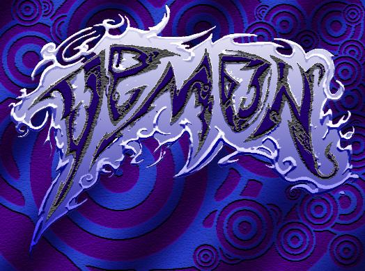 Картинка с надписью демон
