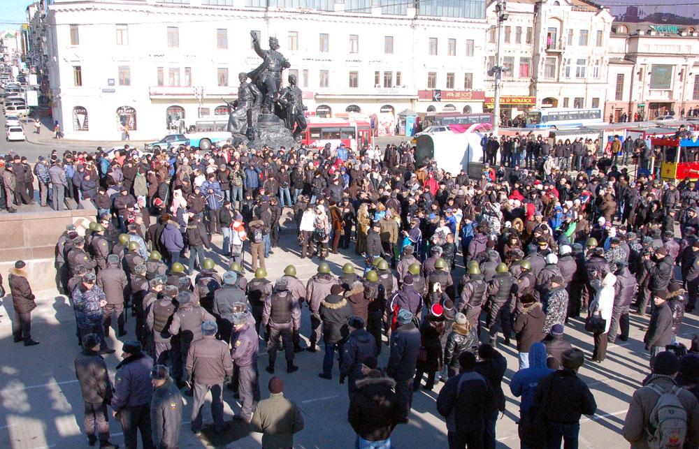 Марш протеста во владивостоке 26 марта