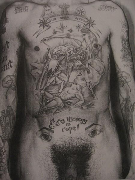 BACK IN USSR… - Тюремные татуировки чисто