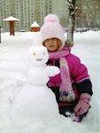Катерина со снеговиком