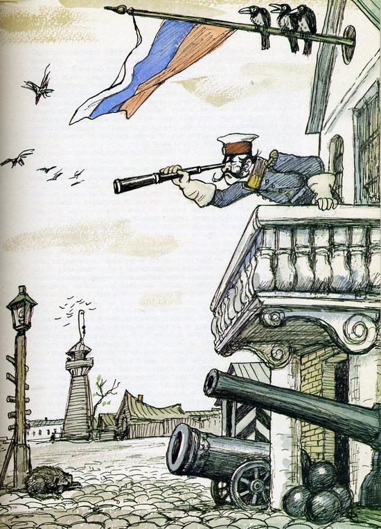 Иллюстрации кукрыниксов к истории одного города